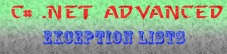 C#-exceptionlist