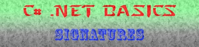C#.net-signatures